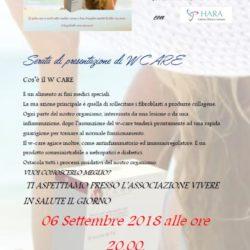 Serata informativa W CARE - Giovedì 6 settembre 2018 ore 20:00 Viale Mazzini 4 - Frosinone - INGRESSO LIBERO
